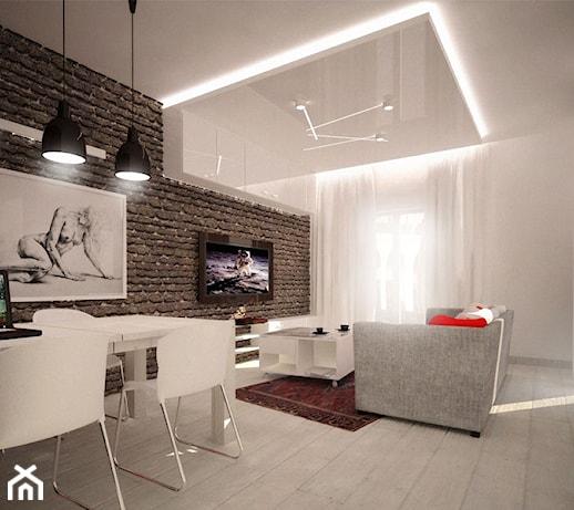 Projekt salonu dziennego, Projekt 3ESDESIGN - Homebook.pl