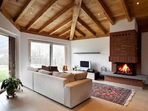 Domowe ognisko - aranżacje kominków w naszych projektach - zdjęcie od 3ESDESIGN
