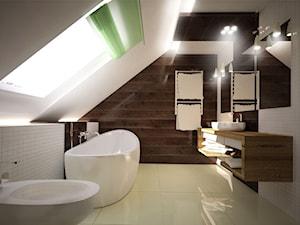 Łazienka w odcieniach kolorów ziemi