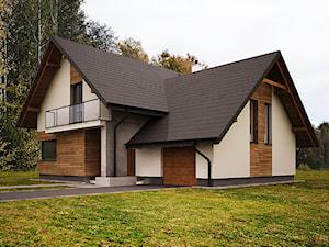 Średnie jednopiętrowe domy jednorodzinne tradycyjne murowane z dwuspadowym dachem, styl tradycyjny - zdjęcie od 3ESDESIGN