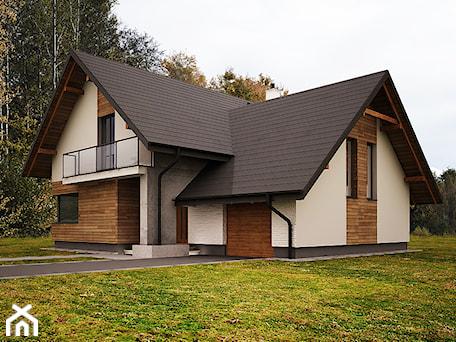 Aranżacje wnętrz - Domy: Średnie jednopiętrowe domy jednorodzinne tradycyjne murowane z dwuspadowym dachem, styl tradycyjny - 3ESDESIGN. Przeglądaj, dodawaj i zapisuj najlepsze zdjęcia, pomysły i inspiracje designerskie. W bazie mamy już prawie milion fotografii!