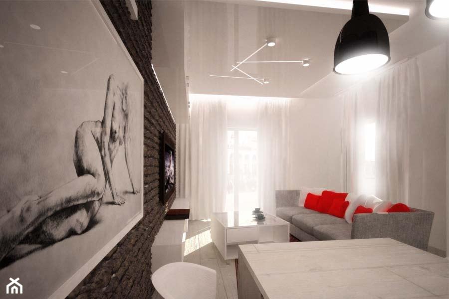 Projekt salonu dziennego - Salon, styl nowoczesny - zdjęcie od 3ESDESIGN