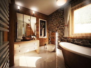 Łazienka w stylu zakopiańskim