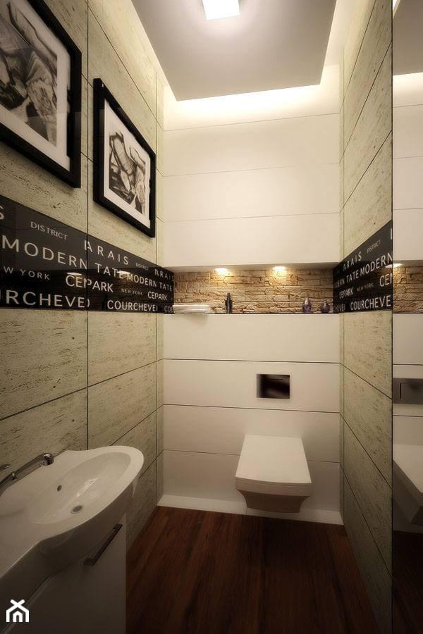 Projekt aranżacji łazienki - Mała łazienka, styl nowoczesny - zdjęcie od 3ESDESIGN