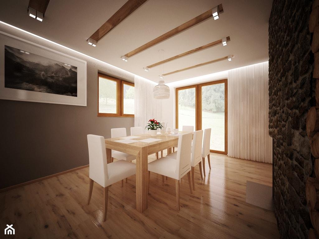 aranżacja domu - Duża otwarta szara jadalnia jako osobne pomieszczenie, styl nowoczesny - zdjęcie od 3ESDESIGN - Homebook