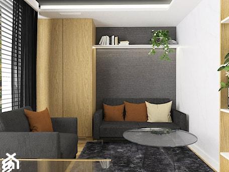 Aranżacje wnętrz - Biuro: Projektowanie wnętrz Kraków -domowe biuro - Małe szare białe biuro domowe w pokoju, styl tradycyjny - 3ESDESIGN. Przeglądaj, dodawaj i zapisuj najlepsze zdjęcia, pomysły i inspiracje designerskie. W bazie mamy już prawie milion fotografii!