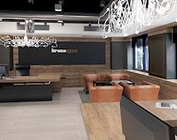 Aranżacja biur - Mielec - Duże czarne biuro pracownia - zdjęcie od 3ESDESIGN