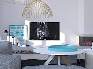 Mały biały salon, styl skandynawski - zdjęcie od gradomska architekci