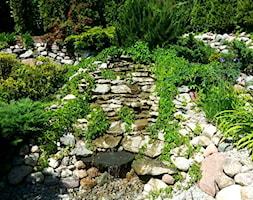 COŚ DLA CIAŁA COŚ DLA DUSZY COŚ DLA OKA - Mały ogród za domem z oczkiem wodnym - zdjęcie od Marlena Hein