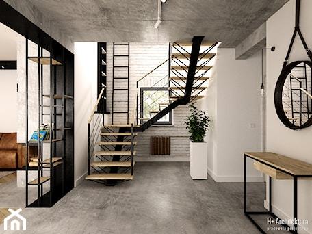Aranżacje wnętrz - Schody: Schody - H+ Architektura. Przeglądaj, dodawaj i zapisuj najlepsze zdjęcia, pomysły i inspiracje designerskie. W bazie mamy już prawie milion fotografii!