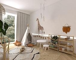 Projekt dziecinny BOHO - Duży biały pokój dziecka dla chłopca dla dziewczynki dla malucha, styl vintage - zdjęcie od DYLIK DESIGN