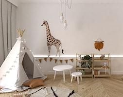 Projekt dziecinny BOHO - Mały biały pokój dziecka dla chłopca dla dziewczynki dla malucha, styl vintage - zdjęcie od DYLIK DESIGN
