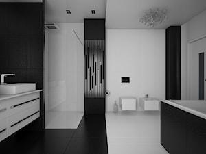 Black and White, nowoczesna łazienka - zdjęcie od MAXFLIZ