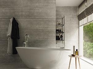 Łagodna szarość w łazience - zainspiruj się!