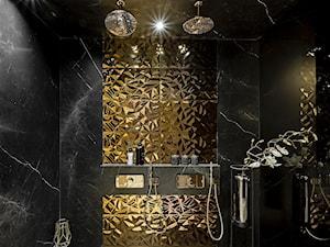 Czarno-złota łazienka