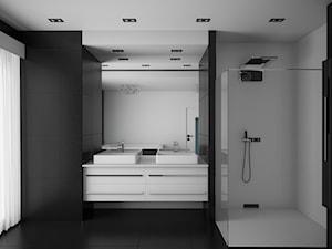 Black and White, nowoczesna łazienka