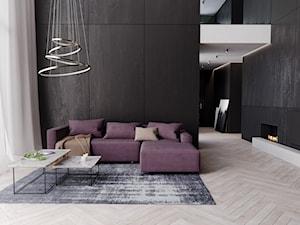 Maxliving - Średni biały salon, styl industrialny - zdjęcie od MAXFLIZ