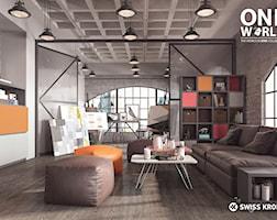 Salon styl Industrialny - zdjęcie od SWISS KRONO
