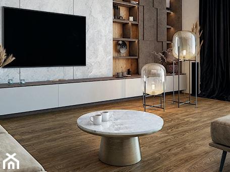 Aranżacje wnętrz - Salon: Panele podłogowe D4583 Dąb Cannes - SWISS KRONO. Przeglądaj, dodawaj i zapisuj najlepsze zdjęcia, pomysły i inspiracje designerskie. W bazie mamy już prawie milion fotografii!