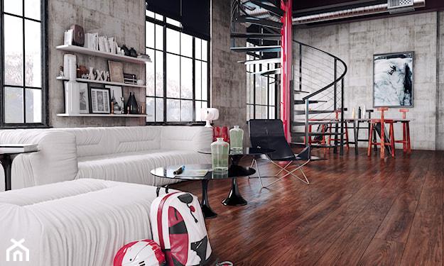 nowoczesny salon w lofcie