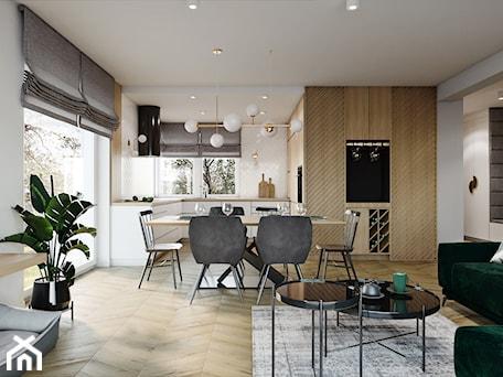 Aranżacje wnętrz - Jadalnia: Dom pod Aleksandrowem Łódzkim - Jadalnia, styl nowoczesny - Przestrzenie. Przeglądaj, dodawaj i zapisuj najlepsze zdjęcia, pomysły i inspiracje designerskie. W bazie mamy już prawie milion fotografii!