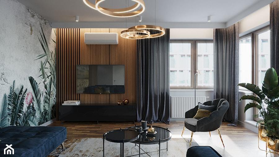 Mieszkanie na Poznańskiej, Kraków - Salon, styl nowoczesny - zdjęcie od Przestrzenie