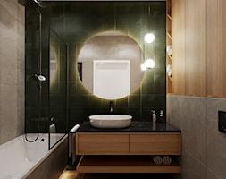 Mieszkanie w leśnym klimacie - Łazienka, styl nowoczesny - zdjęcie od Przestrzenie - Homebook