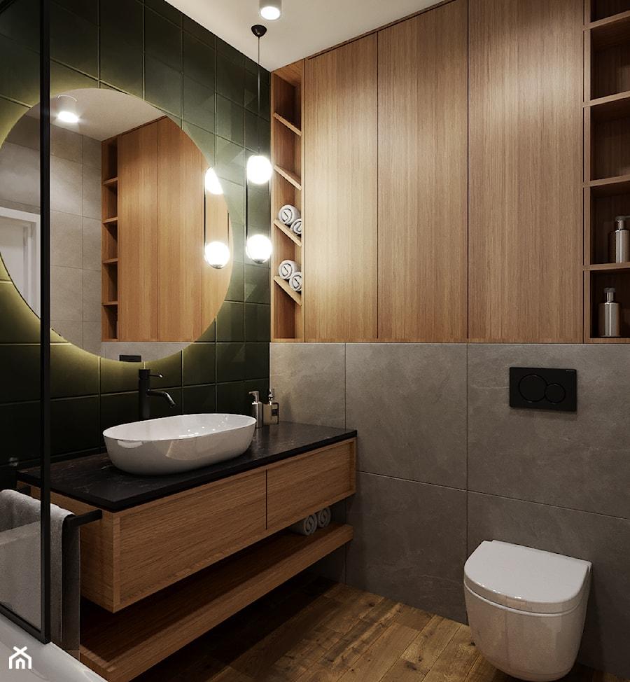 Mieszkanie w leśnym klimacie - Łazienka, styl nowoczesny - zdjęcie od Przestrzenie