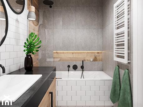 Aranżacje wnętrz - Łazienka: Mieszkanie 3 pokoje Marywilska - Mała biała szara łazienka w bloku w domu jednorodzinnym bez okna, styl eklektyczny - Przestrzenie. Przeglądaj, dodawaj i zapisuj najlepsze zdjęcia, pomysły i inspiracje designerskie. W bazie mamy już prawie milion fotografii!
