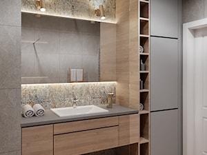 Łazienka z drewnem - Łazienka, styl nowoczesny - zdjęcie od Przestrzenie