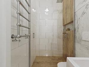 Mieszkanie w kamienicy - Mała łazienka w bloku w domu jednorodzinnym bez okna, styl art deco - zdjęcie od Przestrzenie