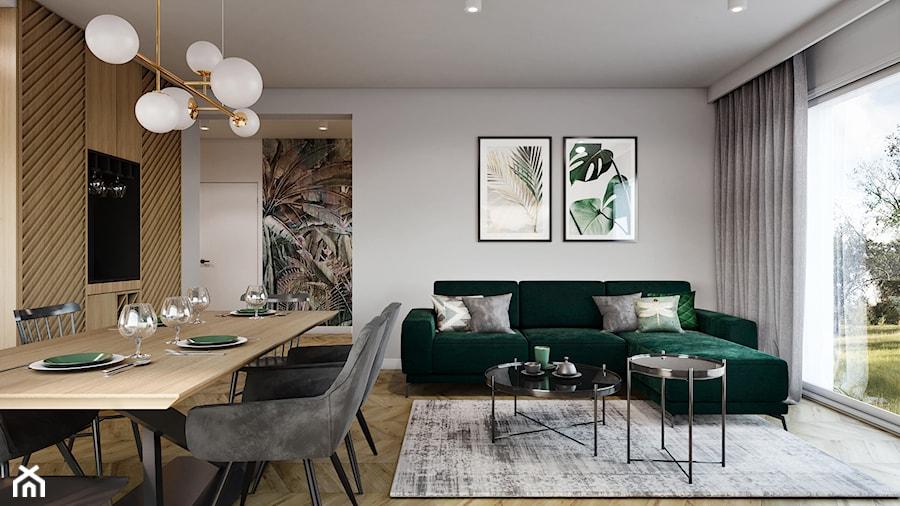 Dom pod Aleksandrowem Łódzkim - Salon, styl nowoczesny - zdjęcie od Przestrzenie