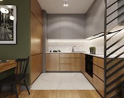 Mieszkanie w leśnym klimacie - Kuchnia, styl nowoczesny - zdjęcie od Przestrzenie - Homebook