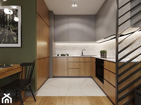 Aranżacje wnętrz - Kuchnia: Mieszkanie w leśnym klimacie - Kuchnia, styl nowoczesny - Przestrzenie. Przeglądaj, dodawaj i zapisuj najlepsze zdjęcia, pomysły i inspiracje designerskie. W bazie mamy już prawie milion fotografii!
