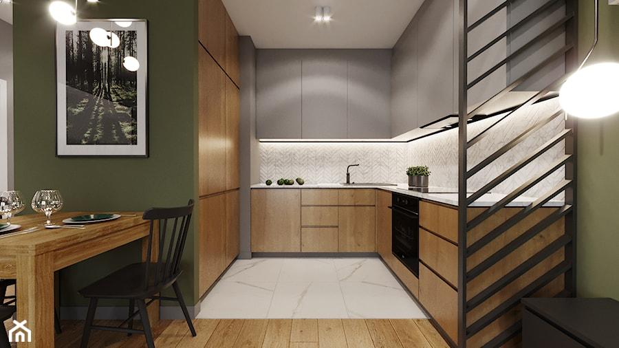 Mieszkanie w leśnym klimacie - Kuchnia, styl nowoczesny - zdjęcie od Przestrzenie