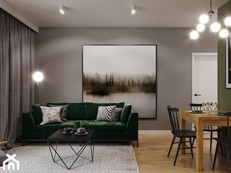 Aranżacje wnętrz - Salon: Mieszkanie w leśnym klimacie - Salon, styl nowoczesny - Przestrzenie. Przeglądaj, dodawaj i zapisuj najlepsze zdjęcia, pomysły i inspiracje designerskie. W bazie mamy już prawie milion fotografii!