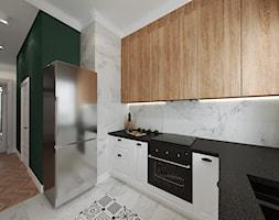 Mieszkanie w kamienicy - Średnia otwarta czarna kuchnia w kształcie litery l, styl art deco - zdjęcie od Przestrzenie