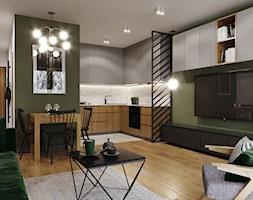 Mieszkanie w leśnym klimacie - Salon, styl nowoczesny - zdjęcie od Przestrzenie - Homebook