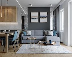 Mieszkanie Mokotów - Salon, styl nowoczesny - zdjęcie od Przestrzenie - Homebook