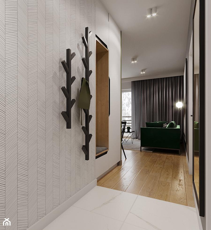 Mieszkanie w leśnym klimacie - Hol / przedpokój, styl nowoczesny - zdjęcie od Przestrzenie