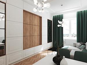 Mieszkanie w kamienicy - Średni biały salon, styl art deco - zdjęcie od Przestrzenie