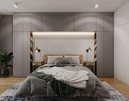 Mieszkanie w leśnym klimacie - Sypialnia, styl nowoczesny - zdjęcie od Przestrzenie - Homebook