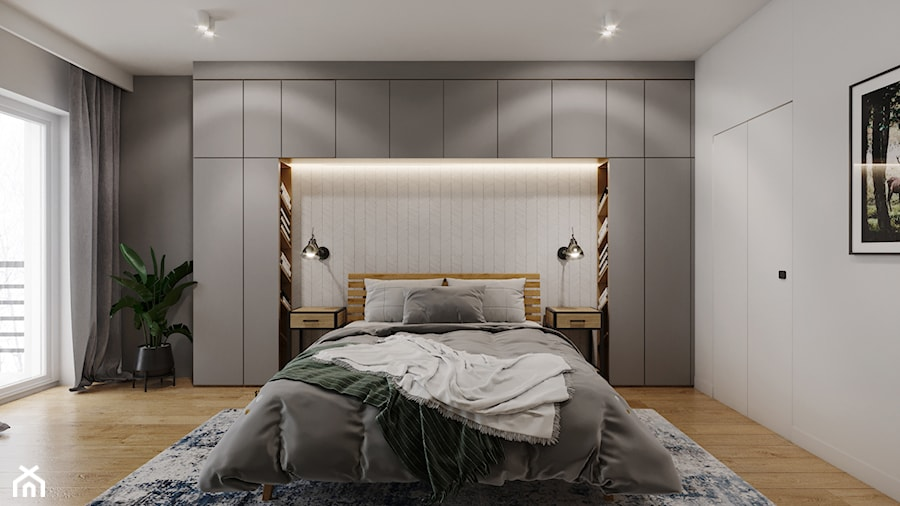 Mieszkanie w leśnym klimacie - Sypialnia, styl nowoczesny - zdjęcie od Przestrzenie
