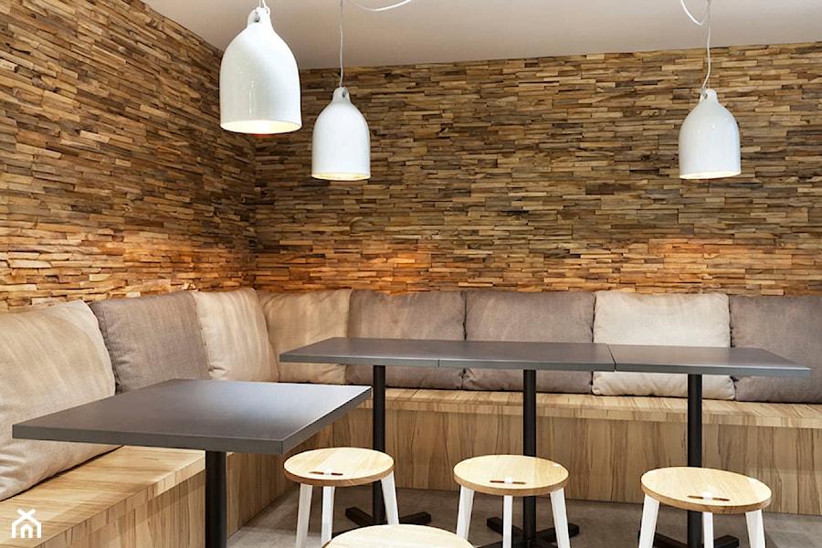 Panel drewniany - Natural Wood Panels - Orzech Amerykanski Cegiełka 3D - zdjęcie od DecoMania.pl