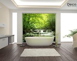 Fototapety ścienne – galeria inspiracji - Duża beżowa łazienka jako salon kąpielowy - zdjęcie od DecoMania.pl