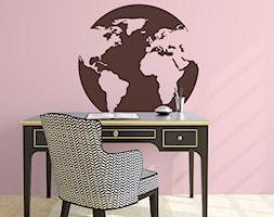 Naklejki na ścianę - Małe różowe biuro domowe w pokoju, styl kolonialny - zdjęcie od DecoMania.pl