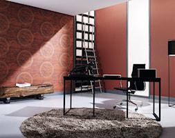 Tapeta winylowa na fizelinie Marburg - Pure by Dieter langer - Średnie pomarańczowe biuro domowe w pokoju, styl minimalistyczny - zdjęcie od DecoMania.pl