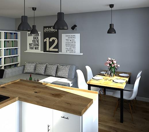 Kuchnia otwarta na salon  zdjęcie od Agata Smok Wnętrza -> Kuchnia Otwarta Na Przedpokój
