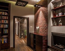 apartament, Poznań - Średni beżowy salon z barkiem, styl nowoczesny - zdjęcie od inGROO   pracownia projektowa