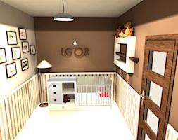 Średni szary brązowy pokój dziecka dla chłopca dla niemowlaka dla malucha - zdjęcie od SMBiuroProjektowe